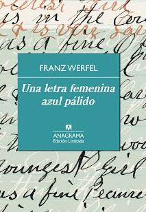"""Portada del libro """"Letra femenina azul pálido"""""""