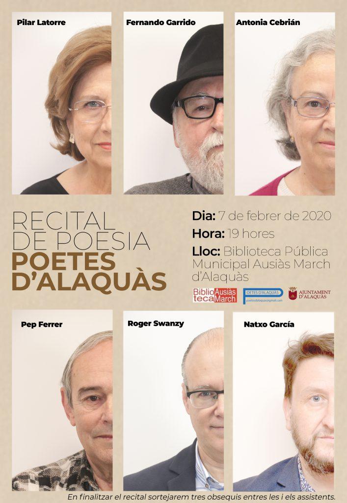 Recital de poesia Poetes d'Alaquàs