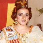 Fallera Major 1984. Paqui García i Forment